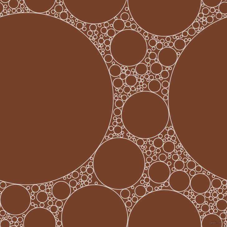 bubbles, circles, sponge, big, medium, small, 2 pixel line width, Swiss Coffee and Copper Canyon circles bubbles sponge soap seamless tileable