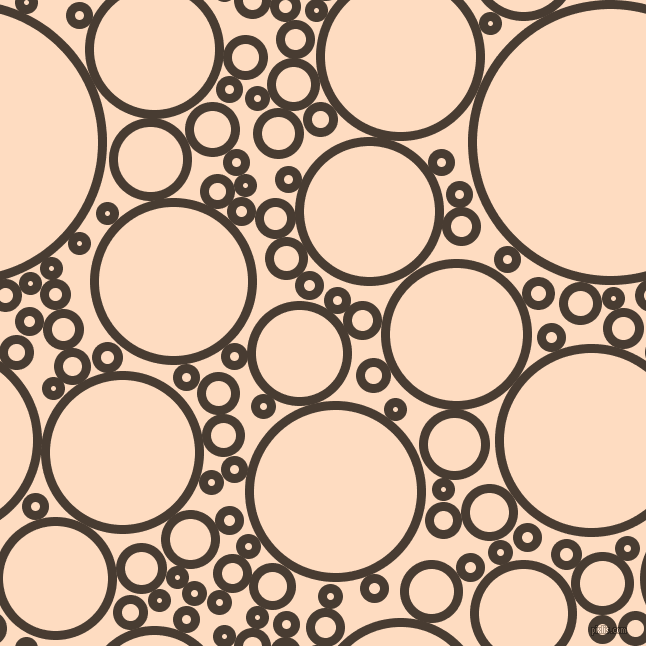 bubbles, circles, sponge, big, medium, small, 9 pixel line width, Taupe and Karry circles bubbles sponge soap seamless tileable