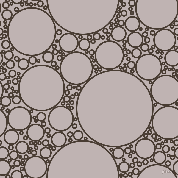 bubbles, circles, sponge, big, medium, small, 5 pixel line width, Taupe and Pink Swan circles bubbles sponge soap seamless tileable
