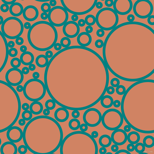bubbles, circles, sponge, big, medium, small, 9 pixel line width, Teal and Burning Sand circles bubbles sponge soap seamless tileable