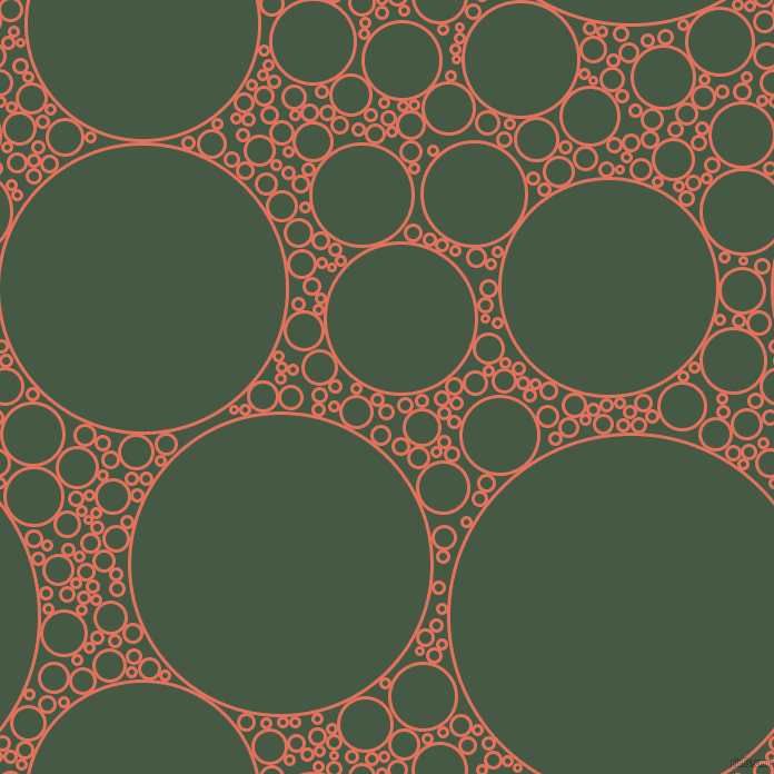 bubbles, circles, sponge, big, medium, small, 3 pixel line width, Terra Cotta and Grey-Asparagus circles bubbles sponge soap seamless tileable