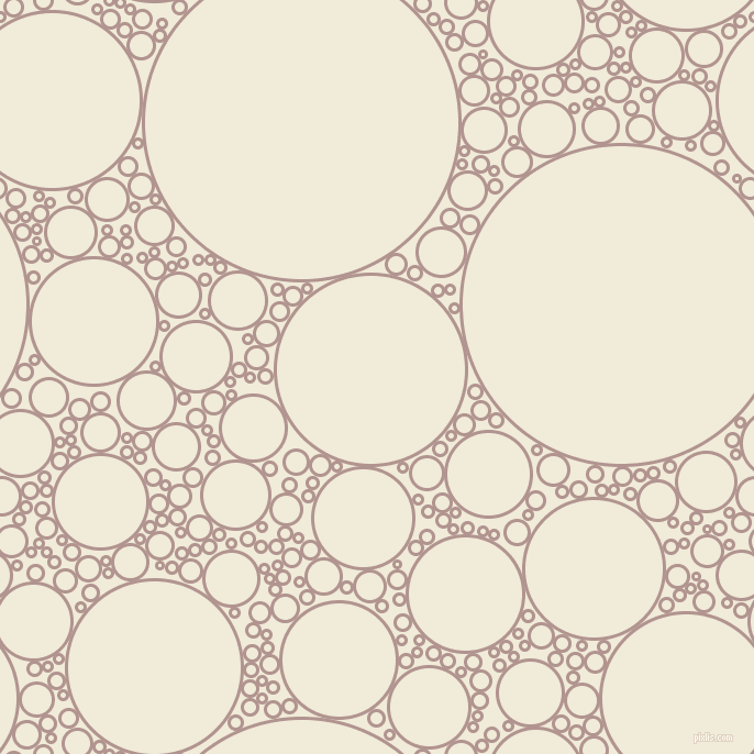 bubbles, circles, sponge, big, medium, small, 3 pixel line width, Thatch and Orchid White circles bubbles sponge soap seamless tileable