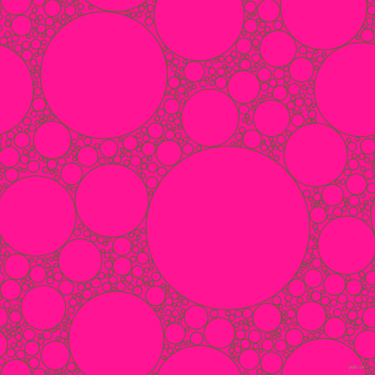 bubbles, circles, sponge, big, medium, small, 2 pixel line width, Tobacco Brown and Deep Pink circles bubbles sponge soap seamless tileable