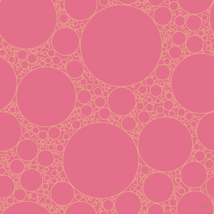 bubbles, circles, sponge, big, medium, small, 3 pixel line width, Tonys Pink and Deep Blush circles bubbles sponge soap seamless tileable