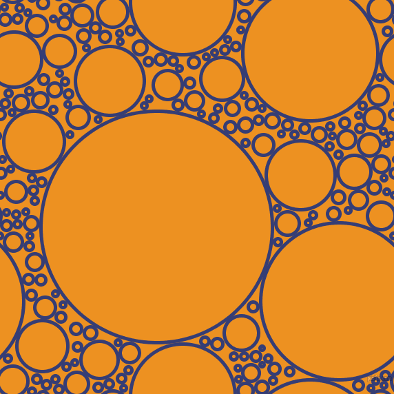 bubbles, circles, sponge, big, medium, small, 5 pixel line width, Torea Bay and Carrot Orange circles bubbles sponge soap seamless tileable