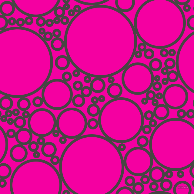 bubbles, circles, sponge, big, medium, small, 9 pixel line width, Tuatara and Hollywood Cerise circles bubbles sponge soap seamless tileable