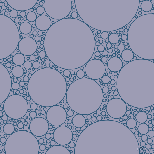 bubbles, circles, sponge, big, medium, small, 2 pixel line width, Venice Blue and Logan circles bubbles sponge soap seamless tileable