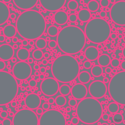 bubbles, circles, sponge, big, medium, small, 5 pixel line width, Violet Red and Storm Grey circles bubbles sponge soap seamless tileable