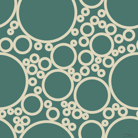 bubbles, circles, sponge, big, medium, small, 9 pixel line width, Wheatfield and Dark Green Copper circles bubbles sponge soap seamless tileable