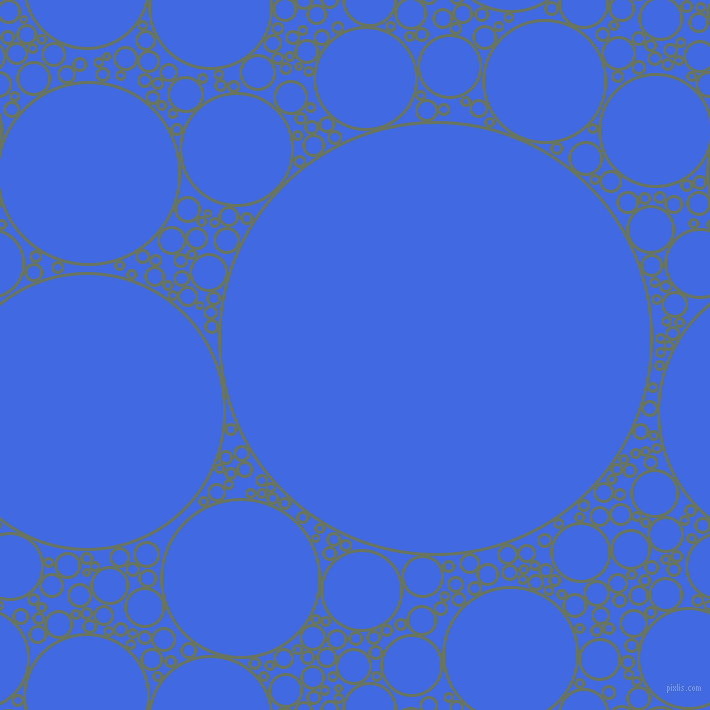 bubbles, circles, sponge, big, medium, small, 3 pixel line width, Willow Grove and Royal Blue circles bubbles sponge soap seamless tileable