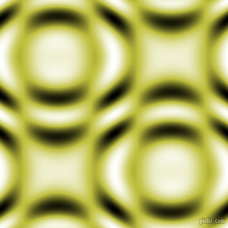 , Celery and Black and White circular plasma waves seamless tileable
