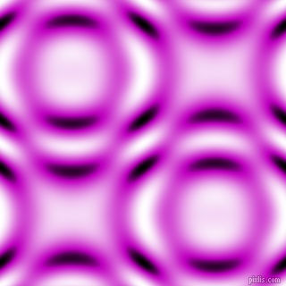 Deep Magenta and Black and White circular plasma waves seamless tileable