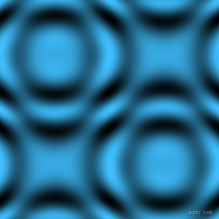 , Dodger Blue and Black and White circular plasma waves seamless tileable