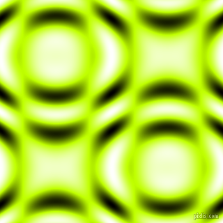 , Electric Lime and Black and White circular plasma waves seamless tileable