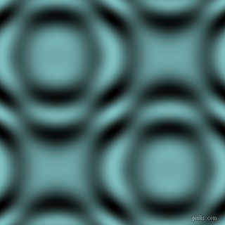 , Fountain Blue and Black and White circular plasma waves seamless tileable