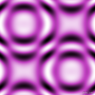 Fuchsia and Black and White circular plasma waves seamless tileable