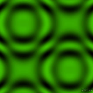Kelly Green and Black and White circular plasma waves seamless tileable