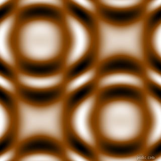 Saddle Brown and Black and White circular plasma waves seamless tileable