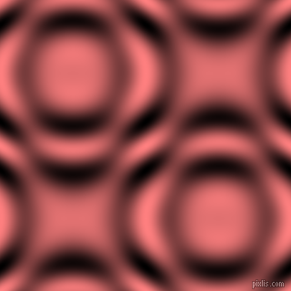 Salmon and Black and White circular plasma waves seamless tileable