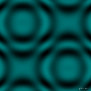Teal and Black and White circular plasma waves seamless tileable