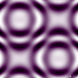 , Tyrian Purple and Black and White circular plasma waves seamless tileable