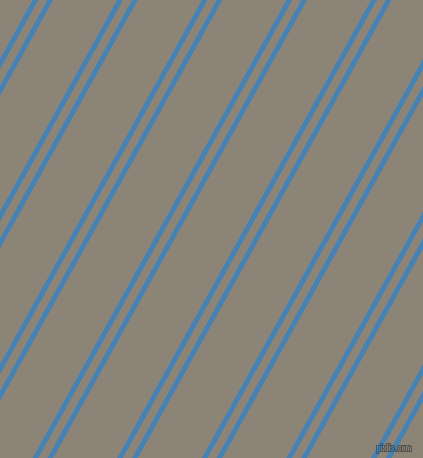 61 degree angles dual striped lines, 5 pixel lines width, 8 and 56 pixels line spacing, dual two line striped seamless tileable