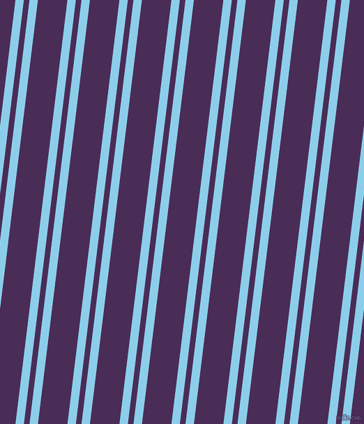83 degree angle dual stripes lines, 12 pixel lines width, 8 and 42 pixel line spacing, Anakiwa and Scarlet Gum dual two line striped seamless tileable