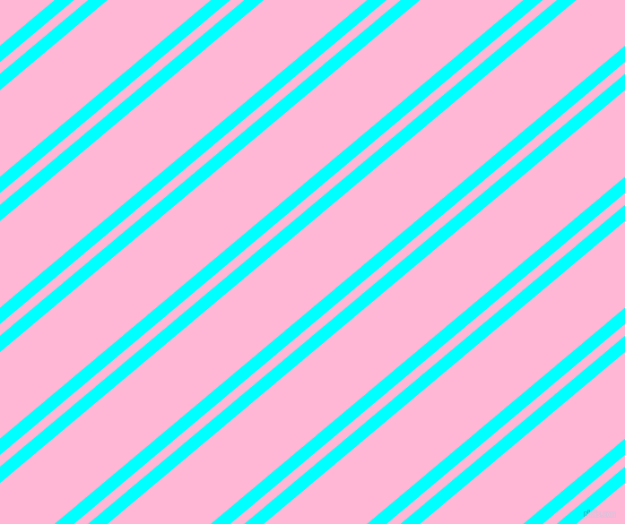 40 degree angle dual striped line, 14 pixel line width, 10 and 74 pixel line spacing, Aqua and Cotton Candy dual two line striped seamless tileable