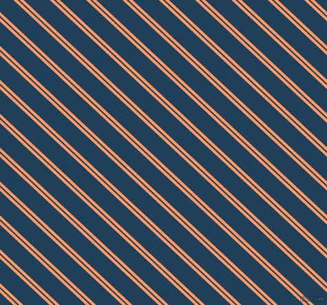 137 degree angles dual stripes line, 4 pixel line width, 2 and 26 pixels line spacing, Atomic Tangerine and Regal Blue dual two line striped seamless tileable