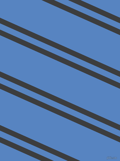 156 degree angles dual striped lines, 18 pixel lines width, 20 and 116 pixels line spacing, Baltic Sea and Havelock Blue dual two line striped seamless tileable