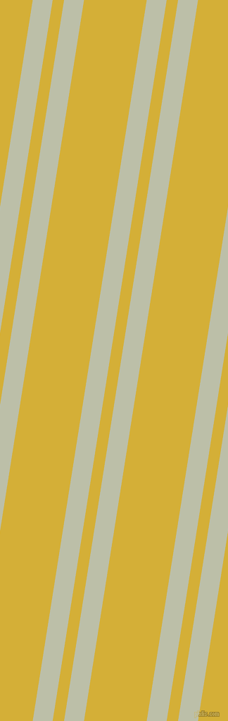 81 degree angle dual stripe line, 28 pixel line width, 16 and 88 pixel line spacing, Beryl Green and Metallic Gold dual two line striped seamless tileable