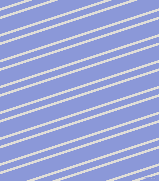 18 degree angle dual striped lines, 8 pixel lines width, 18 and 46 pixel line spacing, Black Haze and Portage dual two line striped seamless tileable