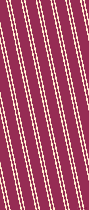 102 degree angles dual striped lines, 5 pixel lines width, 6 and 35 pixels line spacing, Blanched Almond and Lipstick dual two line striped seamless tileable