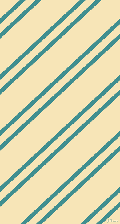 43 degree angles dual stripe line, 13 pixel line width, 22 and 85 pixels line spacing, Blue Chill and Barley White dual two line striped seamless tileable