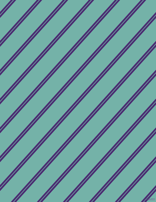 48 degree angle dual stripe lines, 6 pixel lines width, 2 and 53 pixel line spacing, Blue Diamond and Gulf Stream dual two line striped seamless tileable