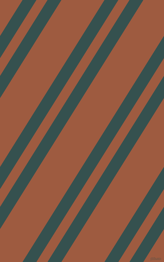 58 degree angles dual stripes lines, 40 pixel lines width, 32 and 124 pixels line spacing, Blue Dianne and Sepia dual two line striped seamless tileable
