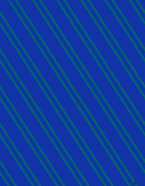 123 degree angles dual stripes line, 7 pixel line width, 12 and 40 pixels line spacing, Blue Lagoon and Egyptian Blue dual two line striped seamless tileable