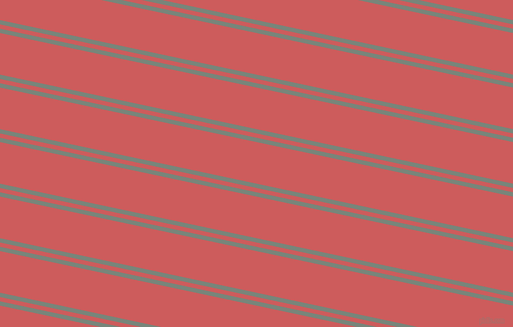 168 degree angle dual striped lines, 6 pixel lines width, 6 and 58 pixel line spacing, Blue Smoke and Indian Red dual two line striped seamless tileable
