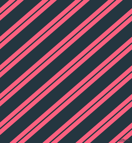 41 degree angle dual striped lines, 14 pixel lines width, 4 and 40 pixel line spacingBrink Pink and Elephant dual two line striped seamless tileable