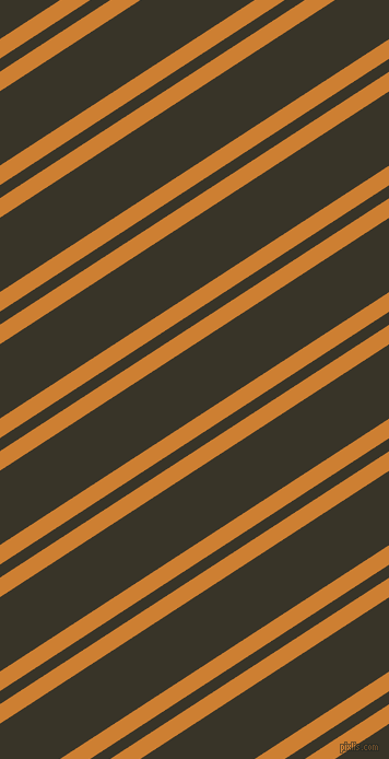 33 degree angles dual stripe line, 15 pixel line width, 10 and 57 pixels line spacing, Bronze and Graphite dual two line striped seamless tileable