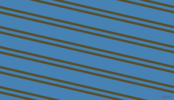 167 degree angle dual striped line, 8 pixel line width, 10 and 43 pixel line spacing, Bronze Olive and Steel Blue dual two line striped seamless tileable