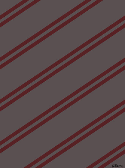 34 degree angles dual stripe line, 12 pixel line width, 10 and 85 pixels line spacing, Burnt Crimson and Don Juan dual two line striped seamless tileable