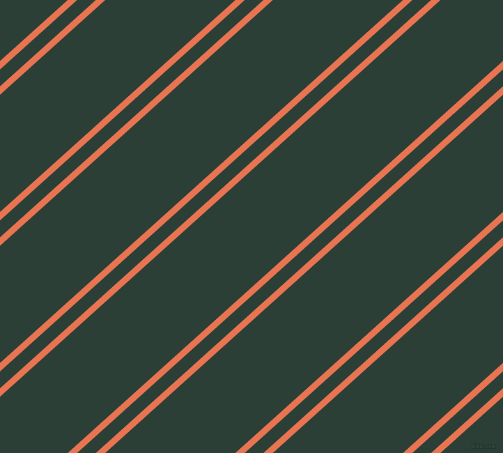 42 degree angles dual stripe line, 9 pixel line width, 18 and 125 pixels line spacing, Burnt Sienna and Celtic dual two line striped seamless tileable