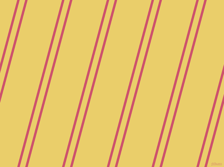 75 degree angle dual stripe line, 8 pixel line width, 18 and 112 pixel line spacing, Cabaret and Golden Sand dual two line striped seamless tileable