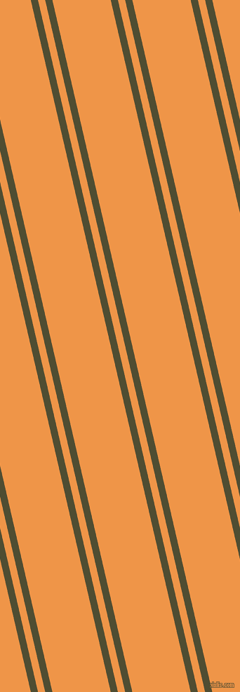 103 degree angle dual striped line, 10 pixel line width, 10 and 81 pixel line spacing, Camouflage and Sea Buckthorn dual two line striped seamless tileable
