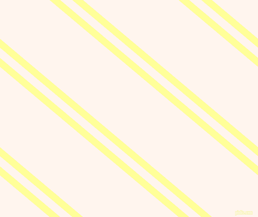 140 degree angles dual striped line, 14 pixel line width, 16 and 126 pixels line spacing, Canary and Seashell dual two line striped seamless tileable