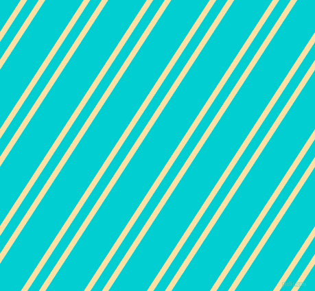 57 degree angles dual stripes line, 8 pixel line width, 14 and 47 pixels line spacing, Cape Honey and Dark Turquoise dual two line striped seamless tileable