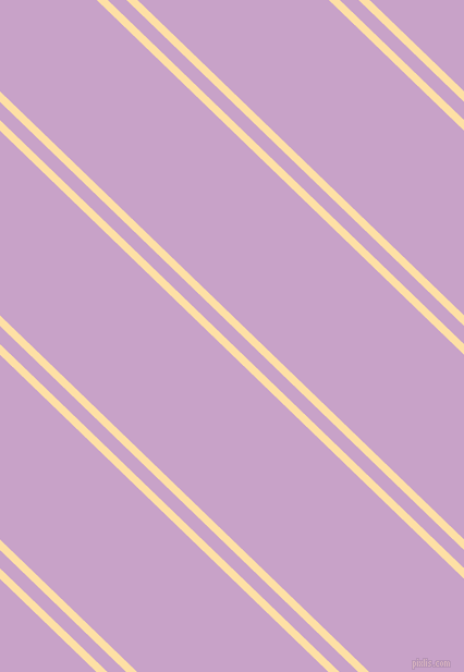 136 degree angle dual striped lines, 7 pixel lines width, 12 and 122 pixel line spacing, Cape Honey and Lilac dual two line striped seamless tileable