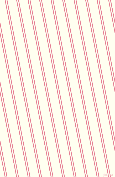 101 degree angle dual stripes line, 3 pixel line width, 4 and 33 pixel line spacing, Carissma and Ivory dual two line striped seamless tileable