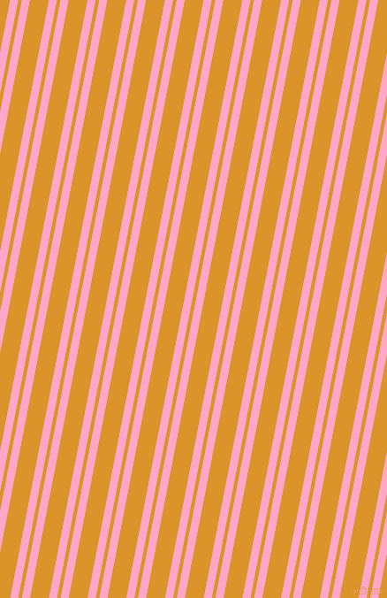 79 degree angle dual striped line, 9 pixel line width, 4 and 21 pixel line spacing, Carnation Pink and Buttercup dual two line striped seamless tileable